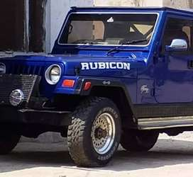 Blue colour modified jeep
