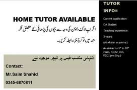 Home and online tuitions available
