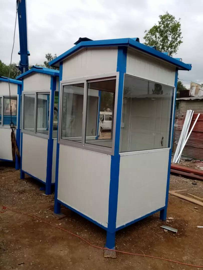 Security guard cabin container office prefabe room& portable washroom
