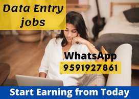 Earn daily 1000 to 2000 by doing simple and easy typing job.