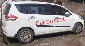 Ertiga car on rent