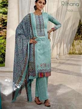 Cotton fabric suit with dupatta