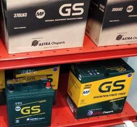 Agen resmi aki GS Astra untuk Honda Brio RS tip n,Avanza,Xenia,wagoner