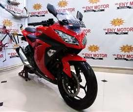 Mokas murah! Kawasaki Ninja 250 FI Th.2016 Km 10 rb merah gagah wow