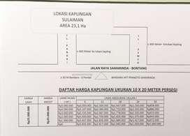 Menjual tanah 10 x 20 meter dengan lokasi strategis
