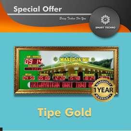 Best Price Jam Digital Masjid Tipe Gold Terkini _abs_