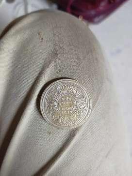Antique Indian Victoria coin 1870