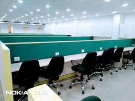 No brokerage 100work station, 4cabin, furnished office, Noida sec 63
