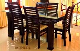 Dining tables are mahogany