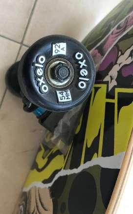 OXELO Kids' 8-12 Years Skateboard Mid 500 Monkey - For SALE