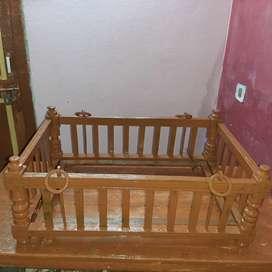wooden cradle palna jhula