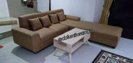 sofa  L  sambung custom design +  Mejaa ,