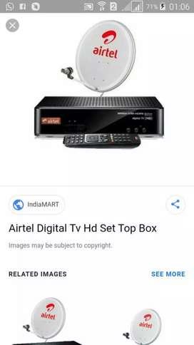 Airtel dish hd set top box free free
