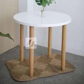 Meja Cafe Bulat - Desain Menarik Atraktif (belum termasuk kursi)
