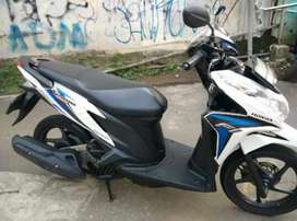 Honda Vario Techno 125 Putih les BIRU di Djaya Motor Antasari