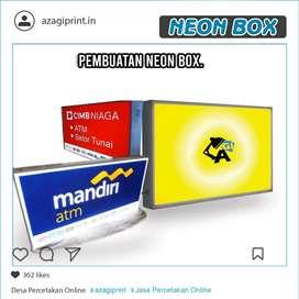 Neon Box Kotak 40 x 60 cm 2 sisi