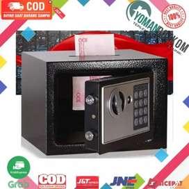 17E Brankas Mini Electric Password Deposit Box Lubang Celengan 4.6L