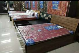 Brand king size storage bed with mattress from manufacture