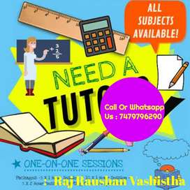 Home tutor available for students of class 1-10 for all subjects