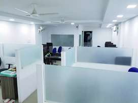 1200 sqft office with 4 AC , 2 Cabin , 2 cublical, 15 work station