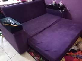 Sofa Bed Purple Black