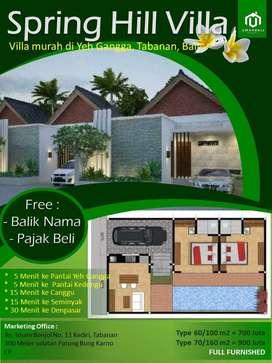 Dijual New Villa Cantik Harga Murah ekat Pantai Yeh Gangga Tabanan