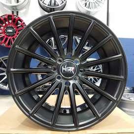 Velg mobil racing murah ring 16 HSR wheel baut 4x100 dan 4x114,3 Hitam