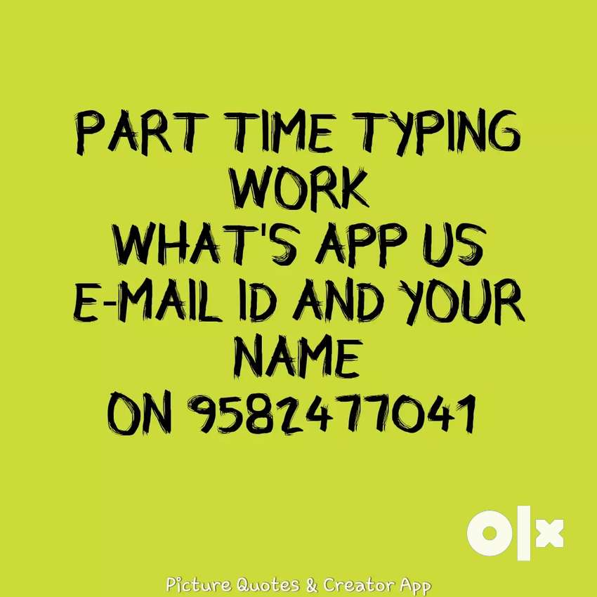 Urgent requirement for typing and data entry jobs 0