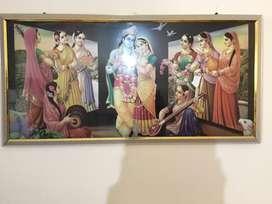 Painting of god krishna
