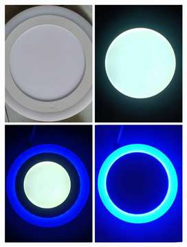 Downlight LED panel kombinasi 2 warna 12+4