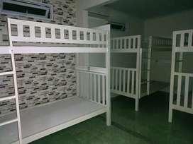 Tempat tidur tingkat berbgai model kayu jati dan akasia bule pun puas