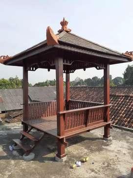 jual saung gazebo kayu jati ukuran 2×2