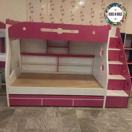 Triple bunk bed Mdf High gloss deco paint
