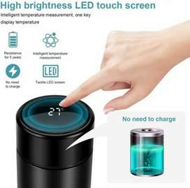 New Smart Vacuum Water Bottle Automatic LED Temperature Hot Cold