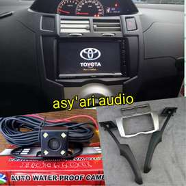 Paket for toyota yaris 2din tv + frame + kamera