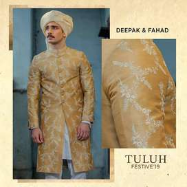 Deepak Sherwani Suit with Shoes and Turban