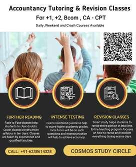 Accountancy tution / Classes Plus one ( +1) , Plus two Bcom ,CA CPT