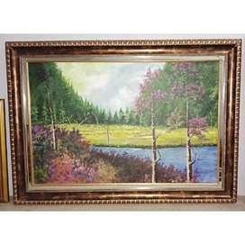 lukisan pemandangan ukuran 160 x 180