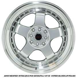 Velg Mobil Worx Meister Ring 17x8.5/9.5 Pcd 4X100/114.Et 35
