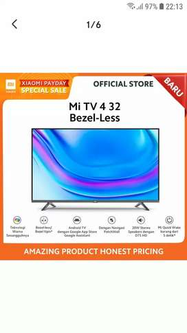 ANDROID SMART TV XIAOMI BEZEL-LESS 32 INCH-YOUTUBE-NETFLIX-DTS-WIFI