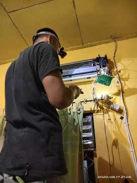 servis AC ,pasang AC , servis kulkas  , servis mesin cuci