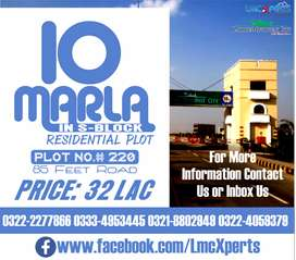 10 Marla Residential Plot Available in S-Block of Lahore Motorway City