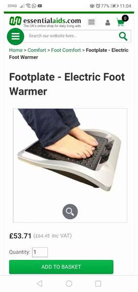 Footplate - Electric Foot Warmer New (Imported from UK)