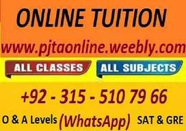 Get Online Tutor for Maths, Chemistry, Biology, Physics O & A Levels