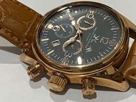 AWESOME BEL-LO AND PREC-ISO CHRONO GOLD PLATED MENS WATCH