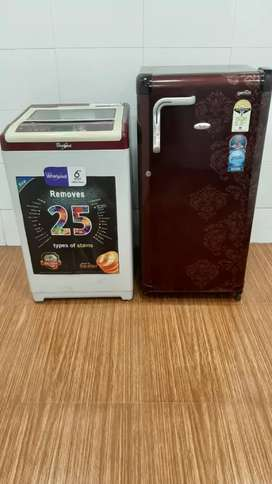 ₩× Both Whirlpool Washing machine and refrigerators with free delivery