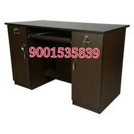 Newwwwwww wooden office table with cabinet drawer office furniture
