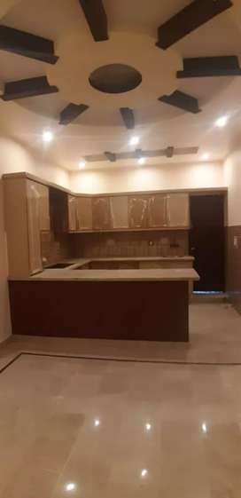 Brand new 200 yards 3 Bed d/d portion with roof aisha manzil Block 10