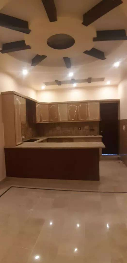Brand new 200 yards 3 Bed d/d portion with roof aisha manzil Block 10 0