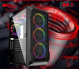 Thundraan Gaming case with 3 RGB fans